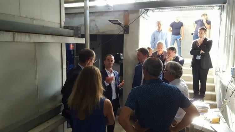 Visite d'Arnaud Leroy, Président de l'ADEME, à la rencontre de notre équipe et de notre première installation